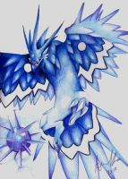 Anivia in Colored Pencil by AzureWyvern