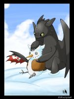 Toothless Winter by Wings-Dragon