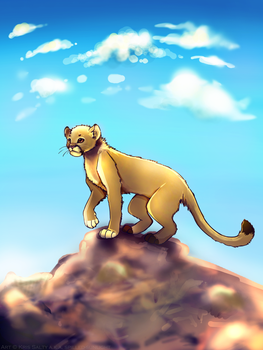 Mountain Lion Stylized Speed Paint by Spilled-Sunlight
