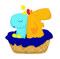 Chao and Peewee Napping by PressToShoot