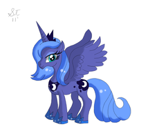 Princess Luna Colour by TenshiHoshino