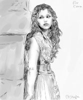 Eponine Les Mis 2012 (black and white) by Tall-Dwarf22