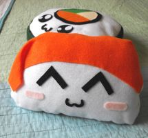 Kawaii Sushi Plushies by nokomomo