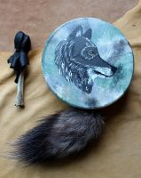 Wolf drum by lupagreenwolf