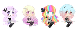 Chibi Adoptables CLOSED by KimmyPeaches