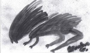 Ink Wash Beast by ObliviousGod