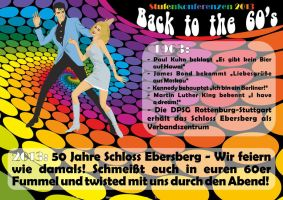 60s Party Flyer by Sarkytob