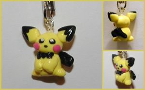 Pichu Cell Phone Charm by LeiliaClay