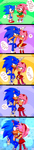 |SonAmy Art Trade| Ahah, you're short! by XxxMikalxxX