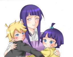 Bolt and Himawari Uzumaki by EmiMurasaki