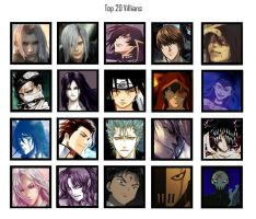 Top 20 Villians by mythicamagic