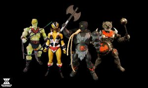 MOTUC Four Hordesmen by masterenglish