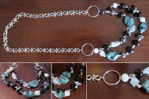 Turquoise Party Necklace by madewithloveL