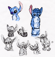 Stitch Collage by Ovni-the-UFO