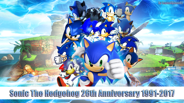 Wallpaper 26th Anniversary of Sonic The Hedgehog by LegendQueen01