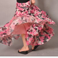 Pink White Brown Floral Skirt5 by yystudio