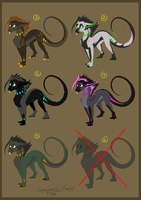 .:Adoptables 1:. [OPEN] by OXenon