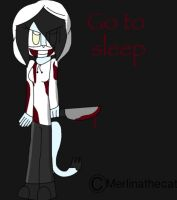 Merlina in jeff the killer cosplay (sketch) by Merlinathecat