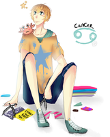 Personification : Cancer by Niniwine