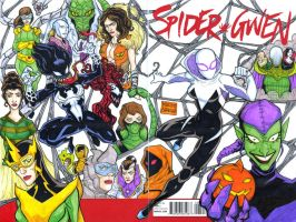 Spider Gwen sketch cover commission by mdavidct
