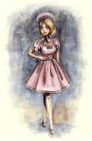 Pink and Purple Lolita Dress by Ninelyn