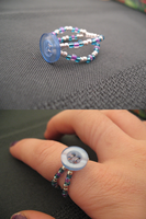 Blue Button Ring by sampdesigns