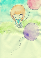 Taemin and the baloon by sparklingwater