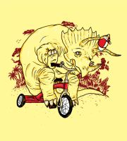 Triceratops on a Tricycle by biotwist
