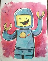 Tupa Blue LEGO Spaceman by littlereddog