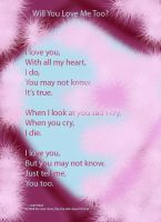 Will you say you love me too? by Pictwii
