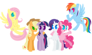 Mane 6 Minimal by flamevulture17