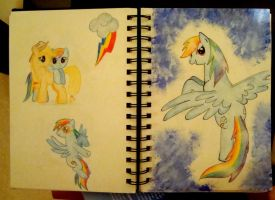 Art Journal - MLP: Rainbow Dash by XcubX