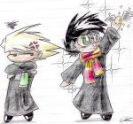 Chibi Harry and Draco by Mistress-D