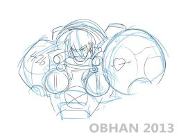 Starcraft Marine Quick Sketch by Obhan