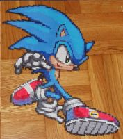 Sonic Perler Bead Sprite by TheSuperBoris