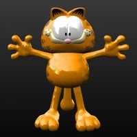 Garfield 3D by AshTwentyThree