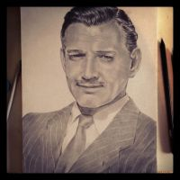 Clark Gable by Teffy