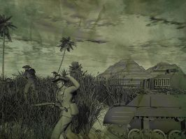 New Guinea campaign -sketch by caastel