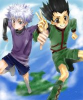 Killua and Gon 1 by Tartarus-Gurren