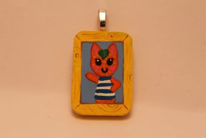 Animal Crossing Tangy Tiny necklace Portrait by TiellaNicole