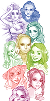Faces and Colors by AjamariesArt