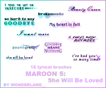 Maroon 5 - She Will Be Loved by Foxxie-Chan