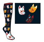 Kitsune Sock Design! by Butterfly-Kitsune