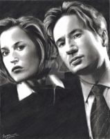 FTF Mulder Scully by RoxaneLys