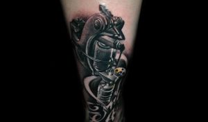 tattoo gun by redliontattoo