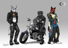 Biker Team by Anupap