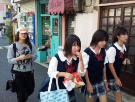 Cute schoolgirls near Shibuya by MushroomRaccoon