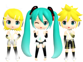 D-Series Append Miku-Rin-Len Download by Clarphia