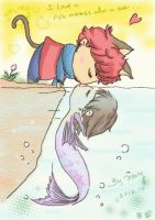 Cat and Fish by LittleXevy