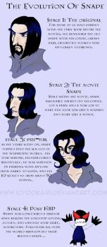 Snape's Evolution by icyookami